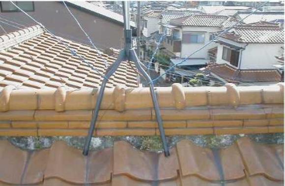 屋根漆喰(しっくい)変色